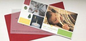 Weihnachtskarte Spenden statt Geschenke
