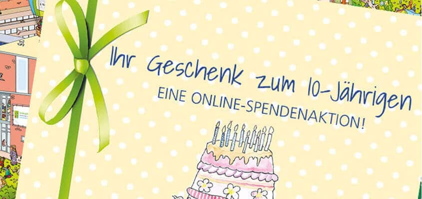 10 Jahre Kinderpalliativzentrum Datteln Online-Spendenaktion