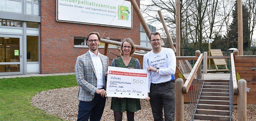 Run And HelpKids Scheckübergabe Kinderpalliativzentrum Datteln