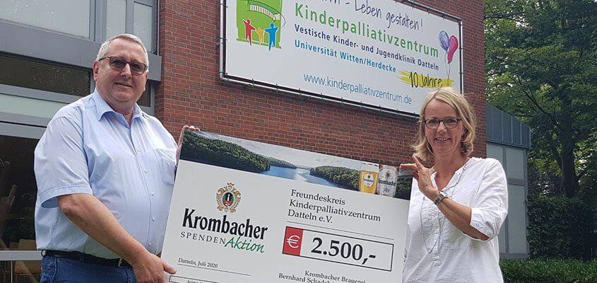 Spendenübergabe Kinderpalliativzentrum Krombacher @copyright Dattelner Morgenpost