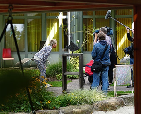 Dreh RTL Spendenmarathon Inka Bause am Kinderpalliativzentrum