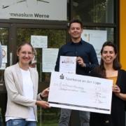 Spendenübergabe Anne Frank Gymnasium Werne Kinderpalliativzentrum