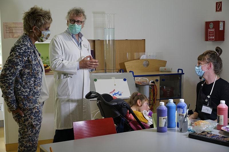 RTL Spendenmarathon Inka Bause Drehtag im Kinderpalliativzentrum