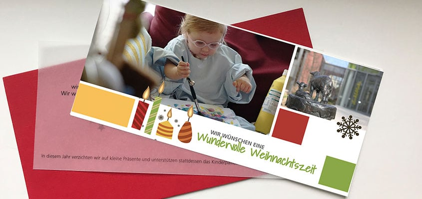 Weihnachtskarte Kinderpalliativzentrum Datteln